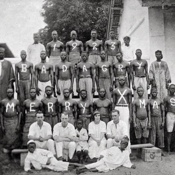 Christmas party in the city of Badagri, Lagos, Nigeria, 1923.