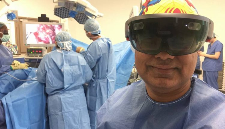 Microsoft AR glasses helped surgeons to perform operation on removal of a tumor from the different countries