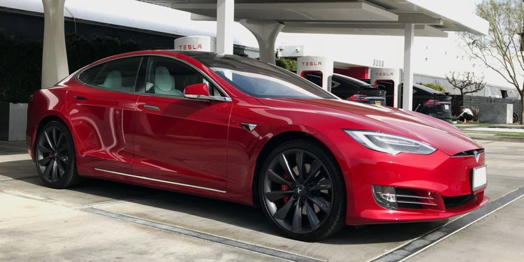 Electric vehicle Tesla Model S