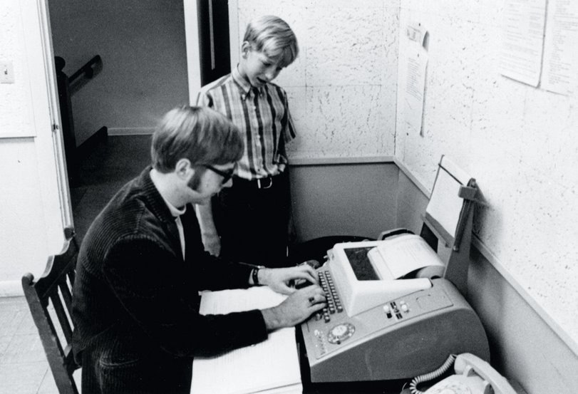 Future founders of Microsoft company 13-year-old Bill Gates and 15-year-old Paul Allen are connected to the PDP-10 computer, being in the University of Washington, by means of the teletype terminal at the Leyksayd school in Seattle in the 1968th year.