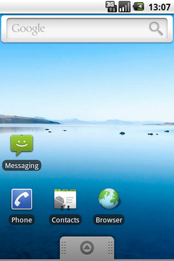 The Android OS interface in the emulator
