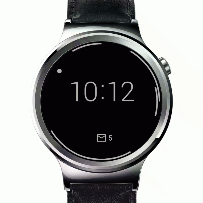 The screen of hours with Outlook on Android Wear, (2016)