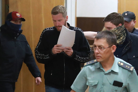 Alexey Kopeykin in court on July 12, 2019. Photo source: Vedomosti