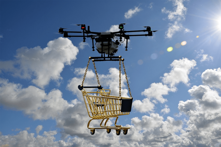 Retailers expect use of drones for the goods delivery and in shops