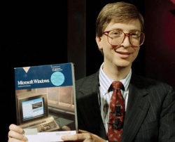 In 1985 Bill Gates submitted the first version of Windows