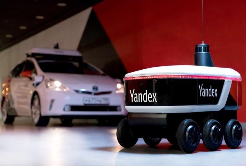 "Provided to ""Yandex\"" the robot courier for transportation of goods"