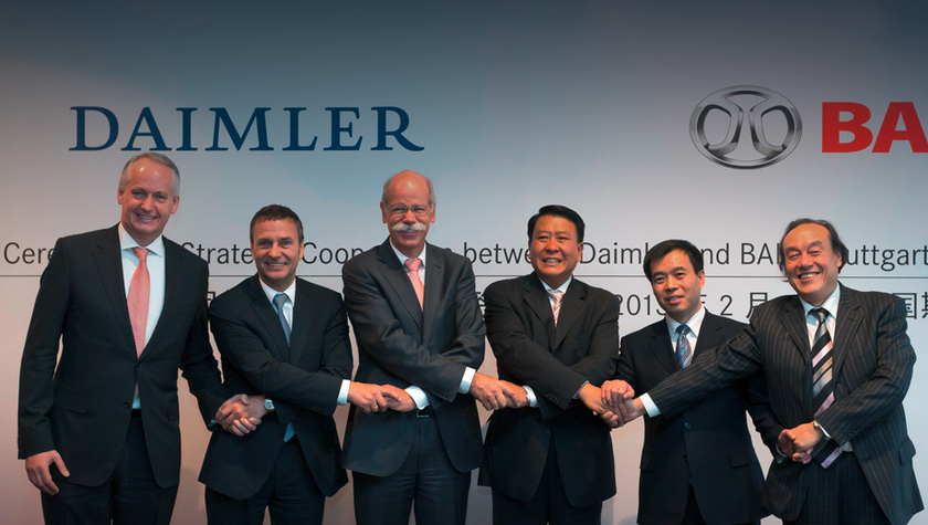 The Chinese concern BAIC acquires 5% of shares of Daimler