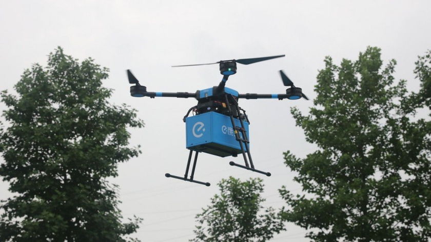 The online service of delivery of food of Ele.me got permission to use drones for delivery of orders along 17 routes in the industrial zone of Shanghai from the Chinese authorities