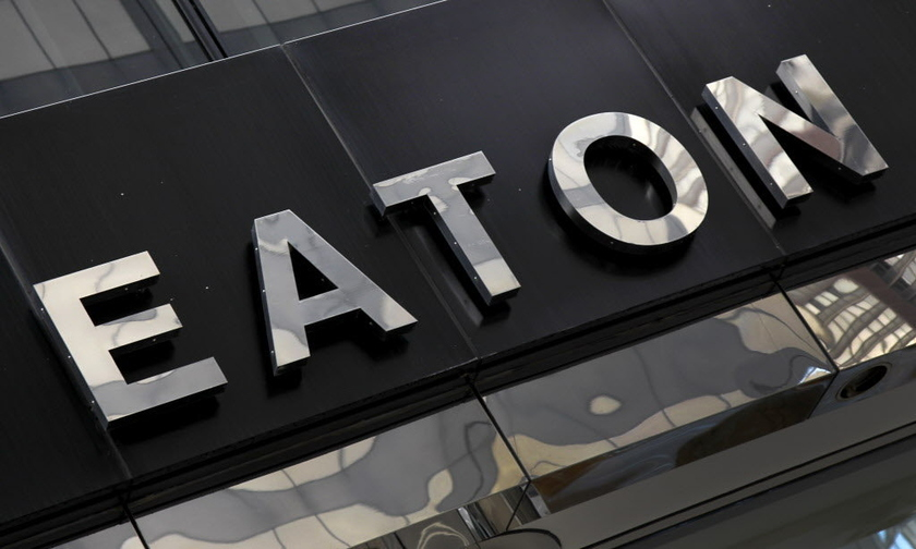 Eaton revenue in 2016 dropped by 5%