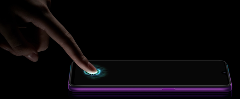 The fingerprint scanner which is built in the display