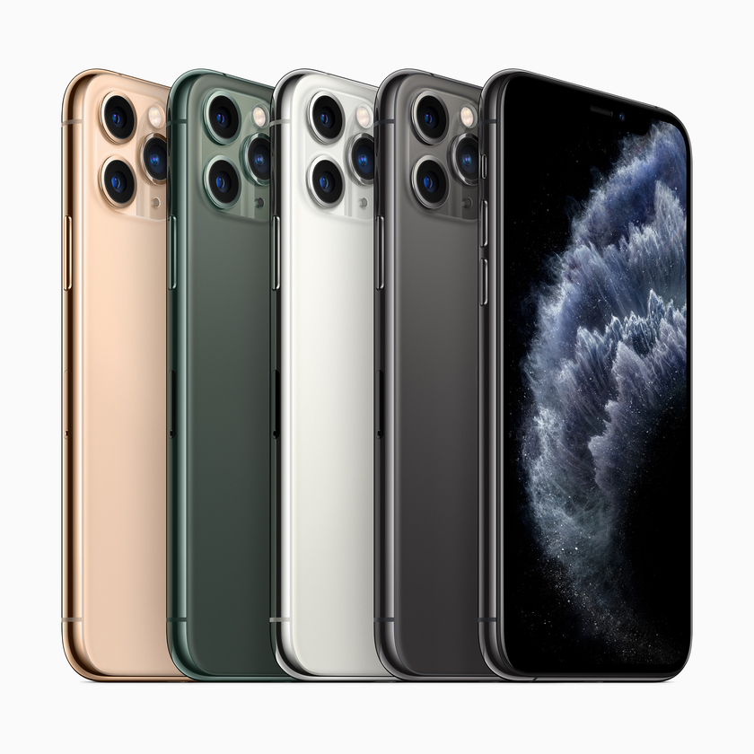 So the iPhone 11 Pro smartphones with threefold cameras look