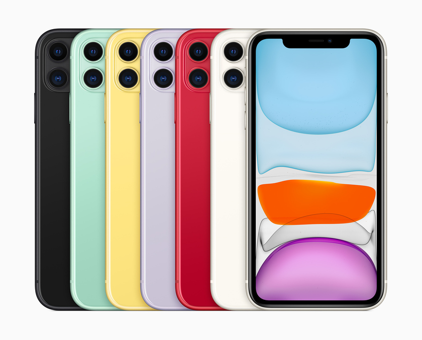 All coloring of iPhone 11 — the cheapest among the new Apple smartphones provided on September 10, 2019.
