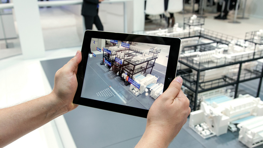 Use of augmented reality in iPad