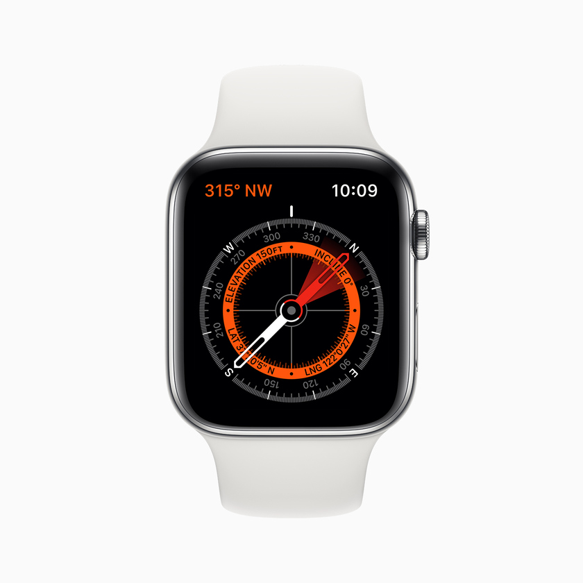 Apple Watch 5 Series with the new Compass application