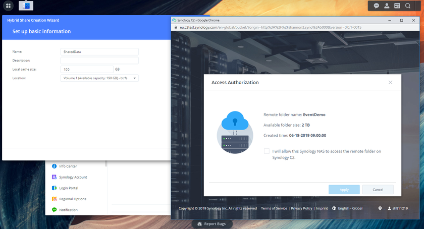 Synology NAS - DiskStation Manager